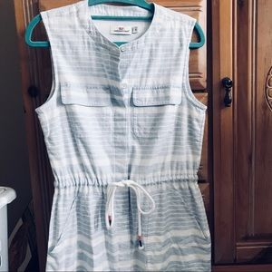 Vineyard Vine Multi Border Stripe Shirt Dress